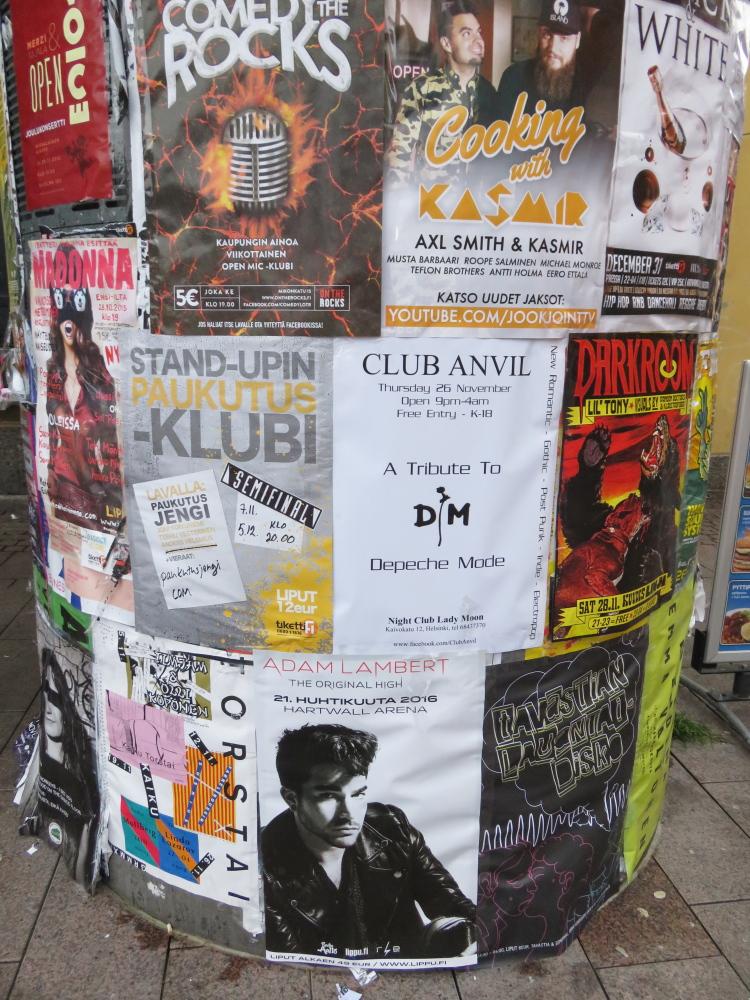 Helsinki Kamppi Adam Lambert TOH Tour poster