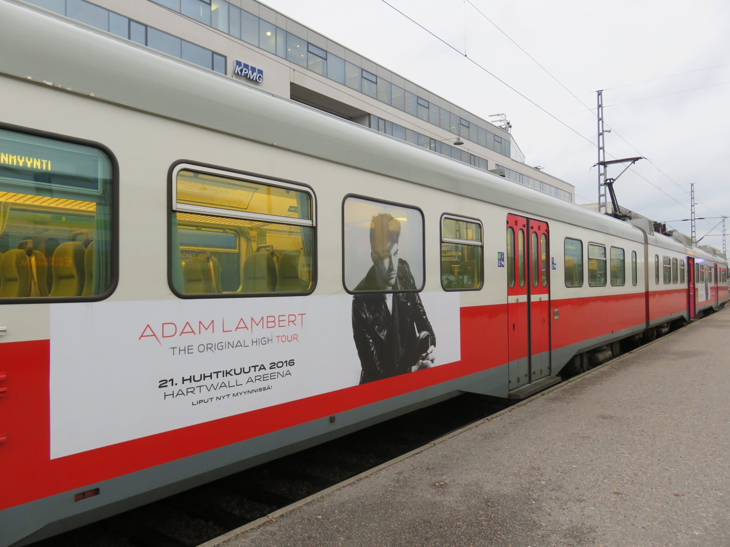 Adam Lambert TOH Tour Train Helsinki