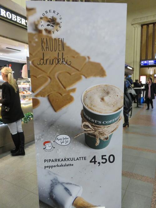 フィンランド ヘルシンキ 中央駅 Roberts Coffee ロバーツコーヒー 季節限定