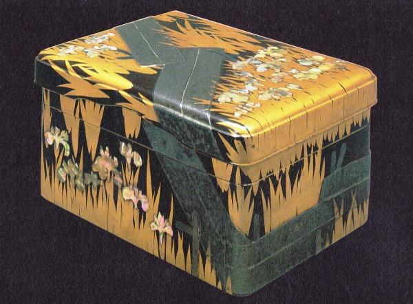 光琳 八橋蒔絵螺鈿硯箱