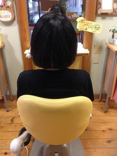 1年ぶり断髪