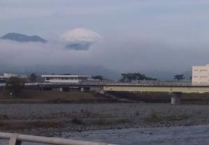 酒尼川からの富士