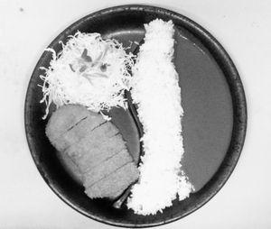 マツヤライス(とんかつ)モノクロ