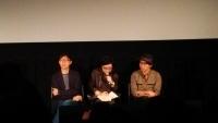 「百日草」のトム・リン監督(左)と出演のシー・チンハン(右)