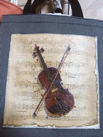 バイオリンのデコパージュ