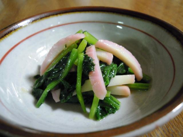 べんり菜とかまぼこの酢味噌和え