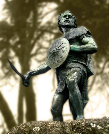 銅像 戦う 戦士