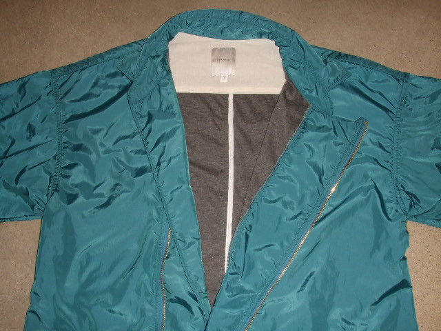 rehacer Wrinkle Zip Coat blue ft3