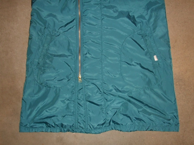 rehacer Wrinkle Zip Coat blue ft2
