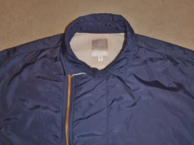 rehacer Wrinkle Zip Coat navy ft1