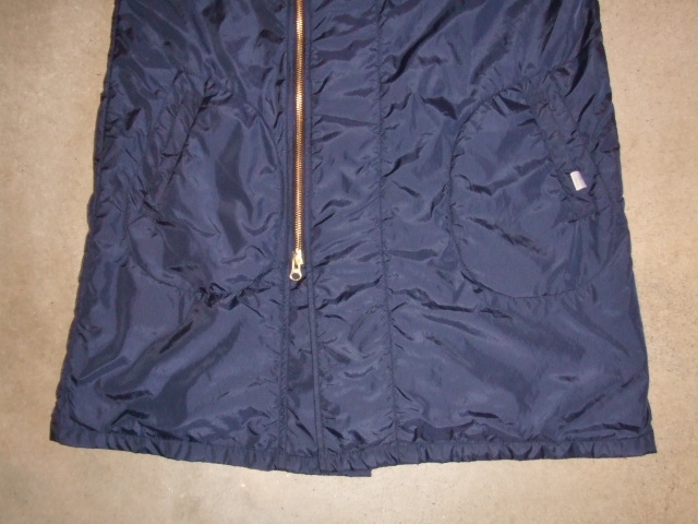 rehacer Wrinkle Zip Coat navy ft2