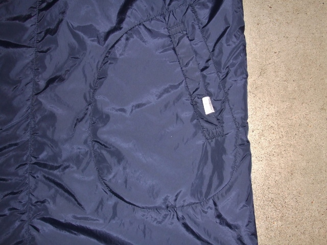 rehacer Wrinkle Zip Coat navy ft3