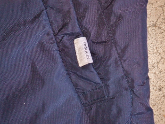 rehacer Wrinkle Zip Coat navy ft4
