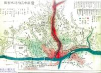 市民の歴史探求館提供資料-明治43年盛岡市大水害被災図