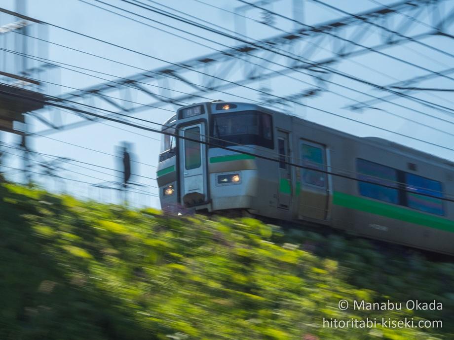 列車の流し撮り