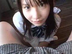 【和葉】学校をサボってやって来た制服女子校生に黙って中出し! 和葉みれい【AV女優】