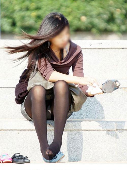 【パンチラ エロ画像】素人さんがパンツをチラリズムしてくれたから。