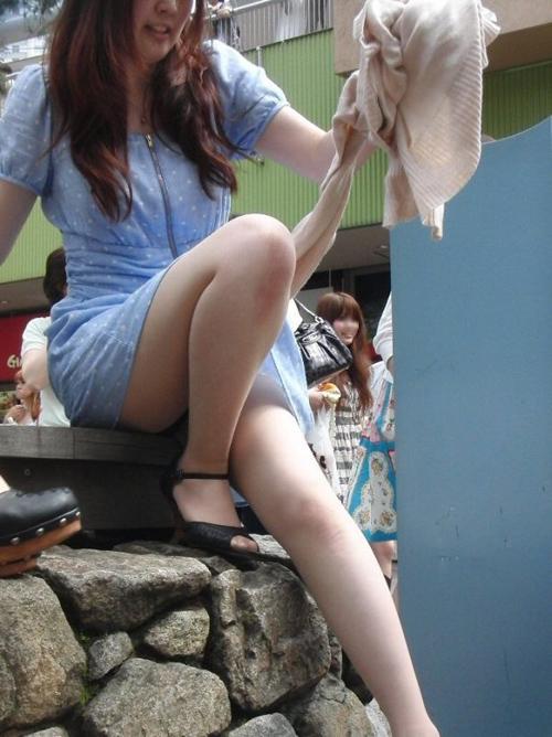 街中で見つけたキレイな素足♪★エロ画像49枚