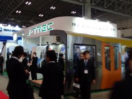 総合車両製作所(J-TREC)のブースです。