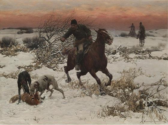 アルフレッド・コワルスキーの絵画『狩人』