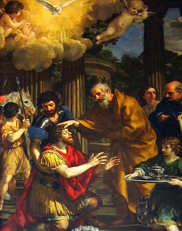ピエトロ・ダ・コルトーナが1631年に描いたパウロの回心