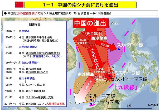 中国の南シナ海における進出