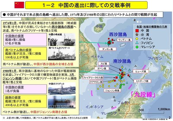 中国の進出に際しての交戦事例