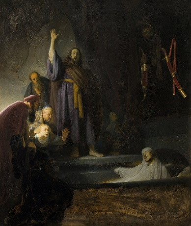The Raising of Lazarus Rembrandt 1630