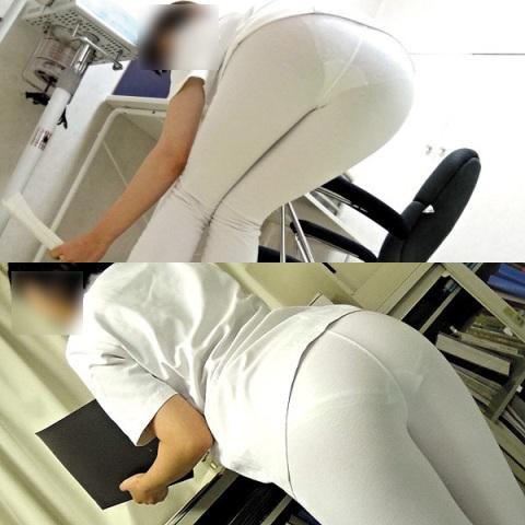 (ムービー有り)ナァス達の下着がモロ透けて見えたぁーやっぱ純白パンツ履いてたぜぇーwww白衣の天使のパンツ超超最高じゃぁーwww