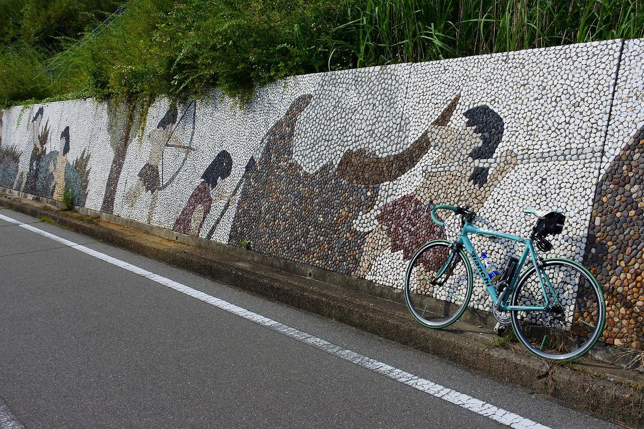 Bianchi と 明石サイクリングロード0