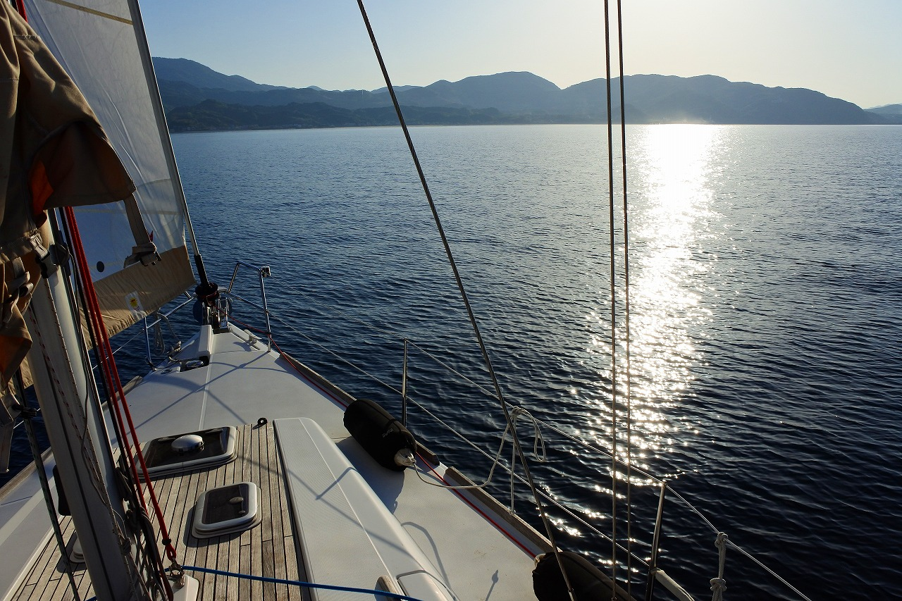 友人のヨットで淡路から和歌山方面へむかう