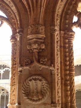 ポルトガル127ジェロニモス修道院回廊