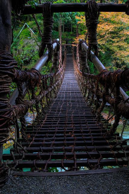 四国 祖谷温泉 かずら橋
