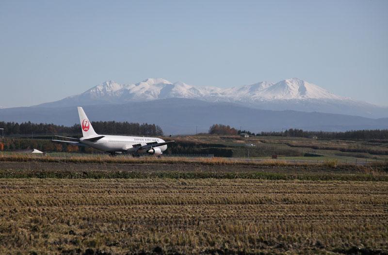 151016旭川空港と大雪山