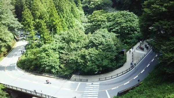 上から見た道路