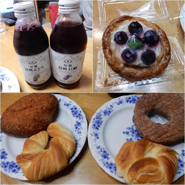 朝食用のパンとジュース