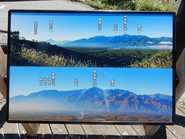 展望台から見える山々の紹介