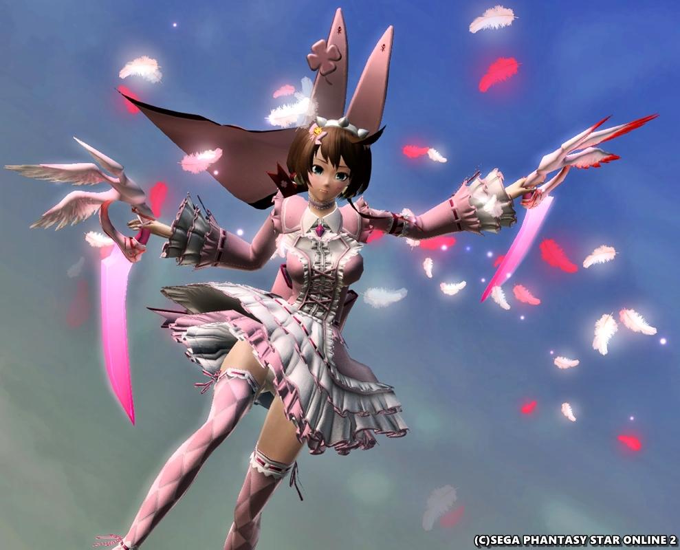 ピンクの羽がふつくしい♪ ダガーオブセラフィ
