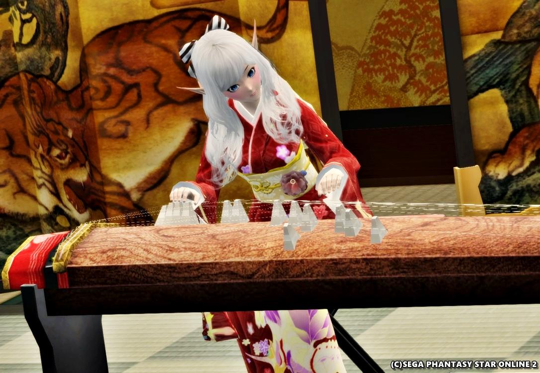 和琴を弾きましょリアちゃん