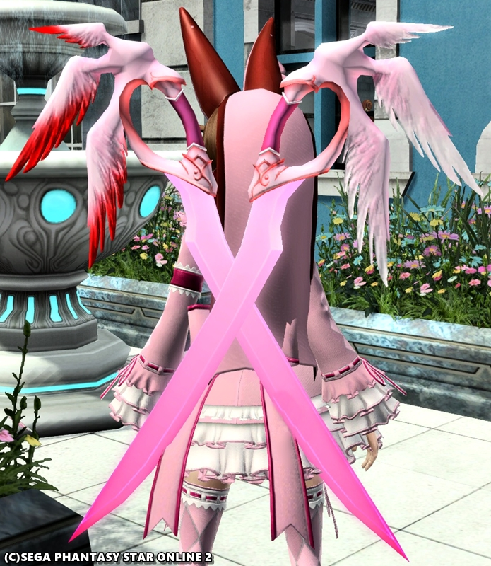 ピンクの羽がふつくしい♪ ダガーオブセラフィ2