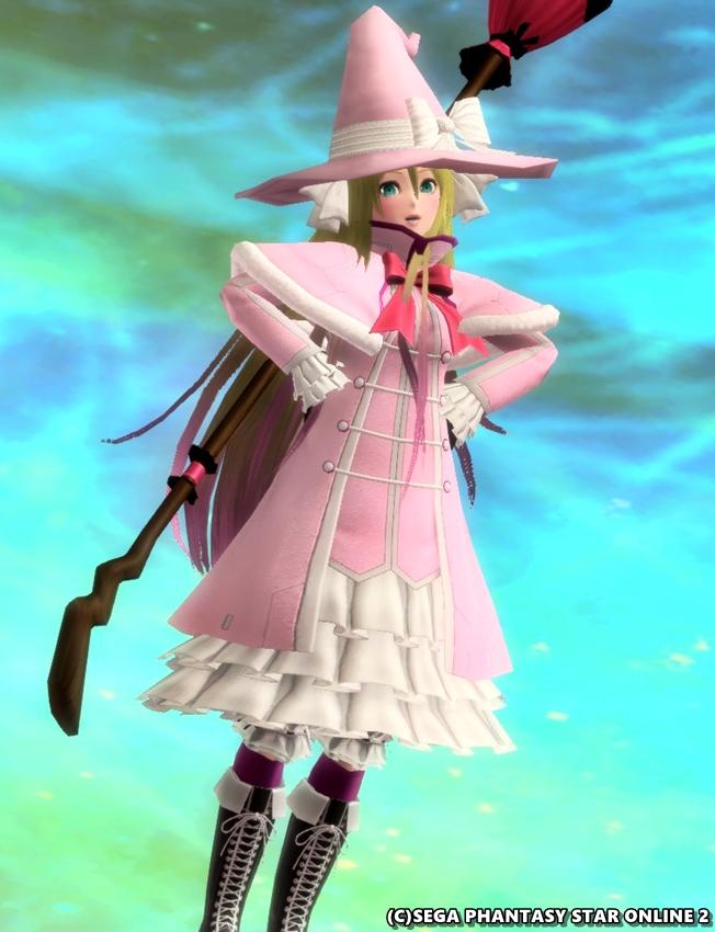 ピンクの魔女っ娘♪