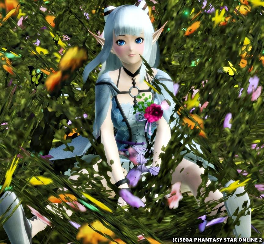 お花畑の妖精さん♪