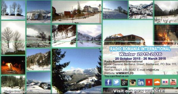 2015年10月3日 中国語放送受信  Radio Romania International(ルーマニア)