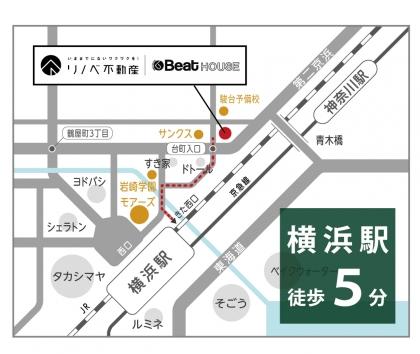 BeatHOUSE地図