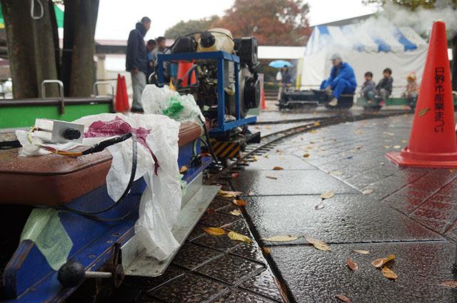 電気コントロール系も雨中試験