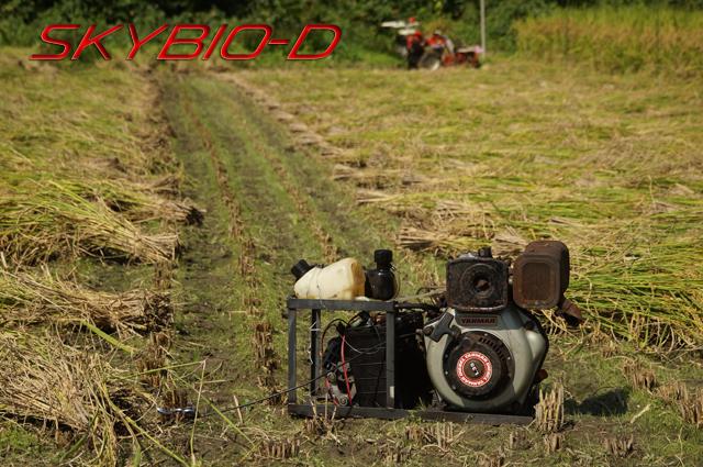 タンボにて SKYBIO-D バイオディーゼル発電機