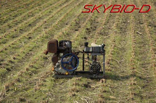 タンボにてSKYBIO-D バイオディーゼル発電機 試運転