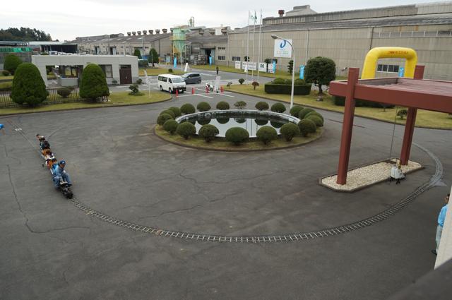 大建工業高萩工場にてはしる汽車