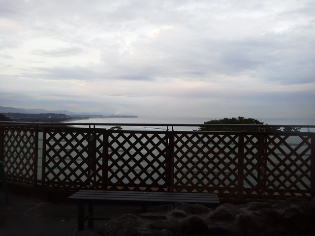 鵜の岬の温泉から見える景色