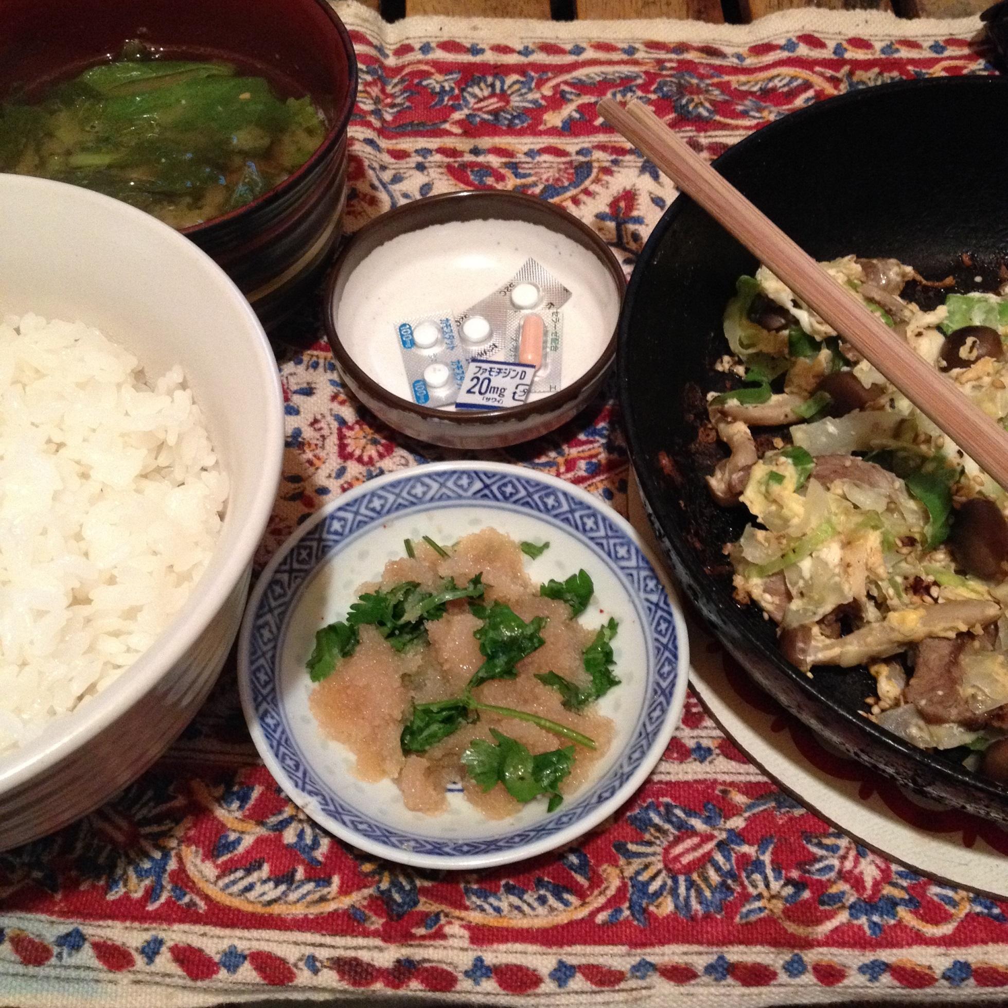 ラム野菜炒め定食